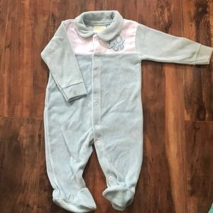 Other - Velour Elephant Footie Pajama